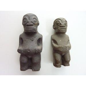 Vintage Terracotta Sculpture Man Standing